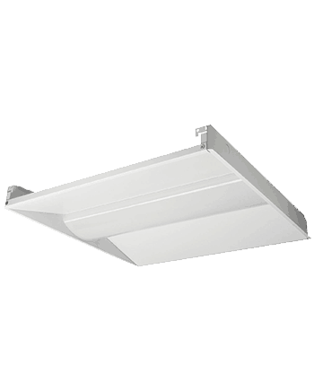 30W LED 2'x2' Recessed Center Basket Lay-In Troffer Fixture, 3780 Lumens